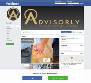 Advisorly Facebook page