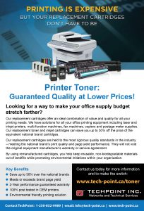 TechPoint print toner ad