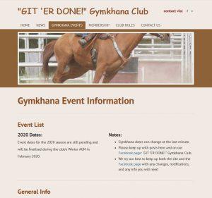 Git 'er Done Gymkhana Club website