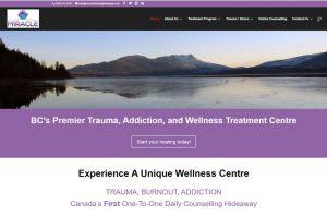 Miracle Healing Hideaway website