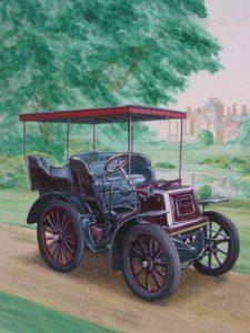 Vintage car - acrylics