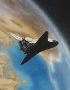 Space Shuttle - airbrush illustration