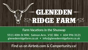 Gleneden Ridge Farm business card