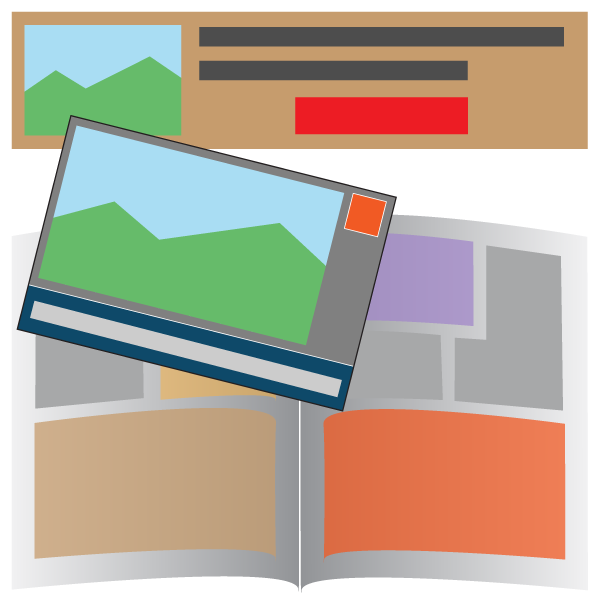 ads, banners, and postcards