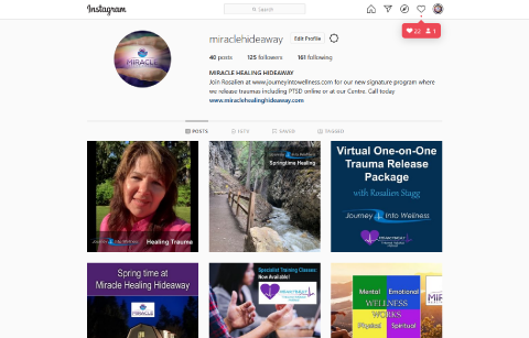 Miracle Healing Hideaway Instagram