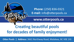 Otter Pools business card